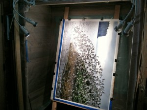 Image ready for spraying in booth.